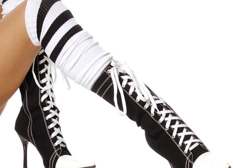 high heel sneaker boots