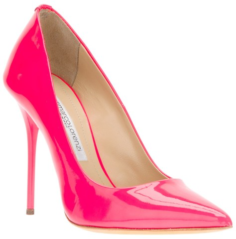 Gianmarco Lorenzi pink pumps