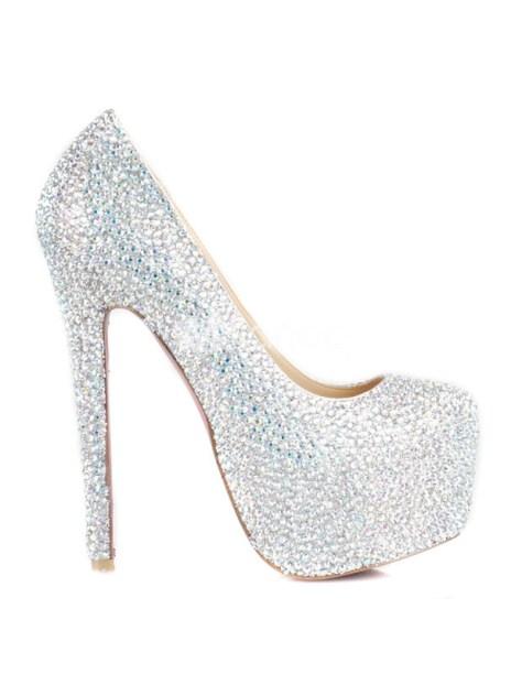 rhinestone high heel shoes