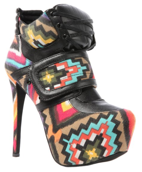 colourful sneaker high heels