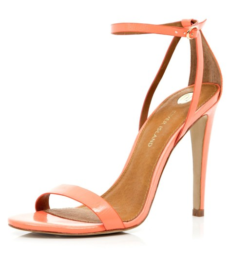 Coral High Heel Sandal