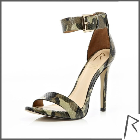 Rihanna Camo High Heel Sandals