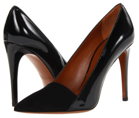 black work pumps by Calvin Klein
