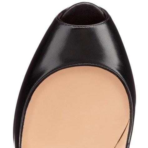 christian louboutin black metallic high heels