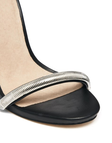 ASOS black and silver sandals
