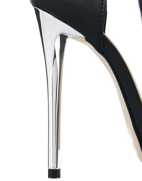 ASOS black open toe heels