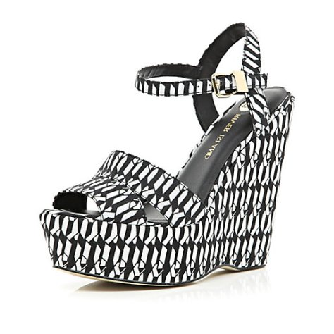 Black and White High Wedges