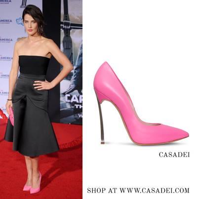 Cobie Smulders in Casadei Blade pumps