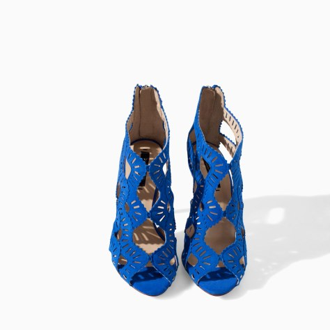 Criss Cross Blue Sandals