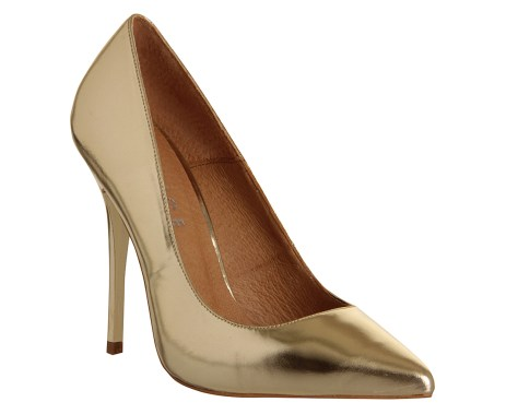 Champagne gold court shoe