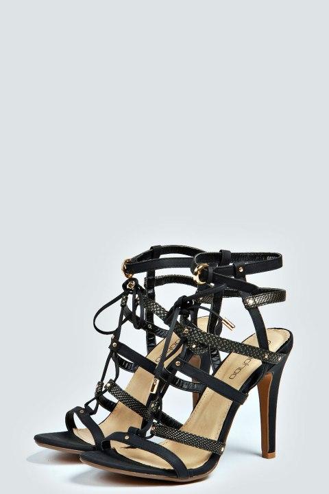 Boohoo black high heels
