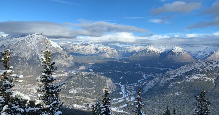 Sulphur Mountain Winter Hike {Banff National Park}
