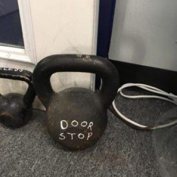 Doug Holland's kettlebell door Stop