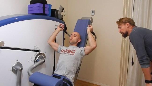 Lawrence Neal training with Simon Shawcross