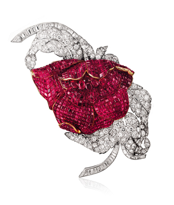Pivoine clip, 1937, Van Cleef & Arpels' collection.