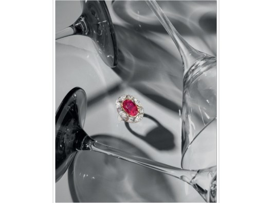 A MAGNIFICENT RUBY AND DIAMOND 'GEORGINA' RING, BY MARINA B.
