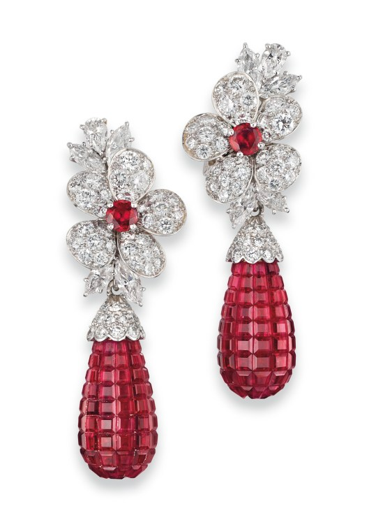 Sale 1574_Lot 417_ Van Cleef & Arpels_Ruby Earrings