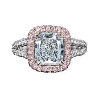 Internally Flawless Natural Light Blue Diamond Ring, 2.43 Carats