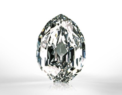 101.84 carats Modified Pear-shape, D color, Internally Flawless Sold for US$12.7 million / US$125,295 per carat Sotheby's Geneva, 1990.