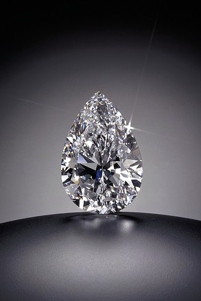 100.10 carats Pear-shape, D color, Internally Flawless Sold for US$16.5 million / US$165,322 per carat Sotheby's Geneva, 1995.