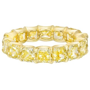 Betteridge Fancy Intense Yellow Diamond Gold Eternity Band