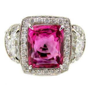 Natural Burma Sapphire Diamond Gold Ring