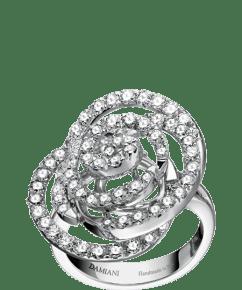 Damiani Rose white gold and diamond ring (ct 1,43).