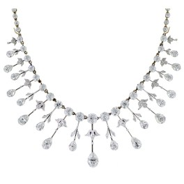 Extraordinary Edwardian Diamond Fringe Necklace