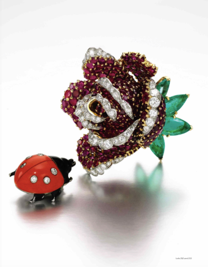 A flower and a ladybug
