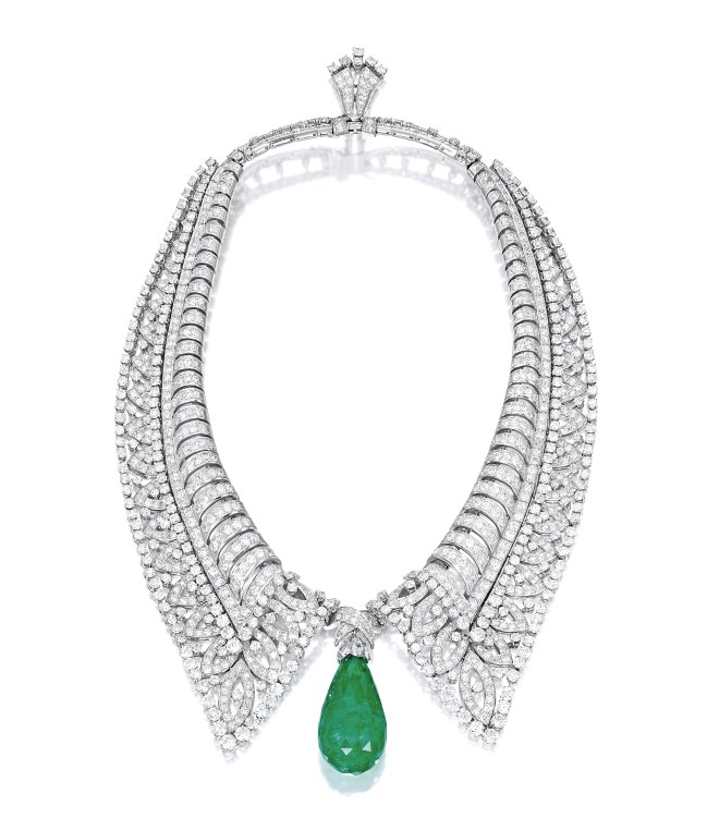 Boucheron 65.33-ct Colombian Emerald and Diamond Necklace, circa 1930s_RGB