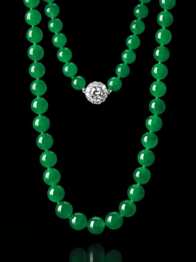 Jadeite Bead and Diamond Necklace RGB (1)