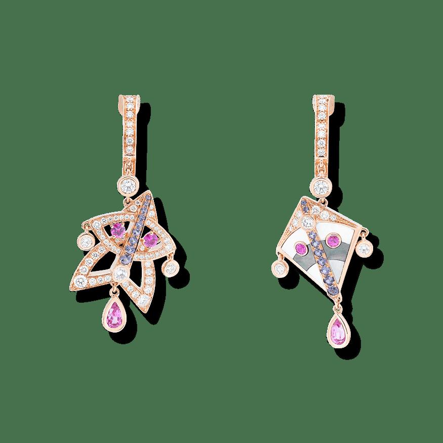 Cerfs-Volants small model earrings.