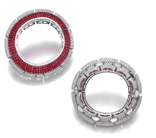 Ruby and Diamond Bangle-Bracelet, Boucheron