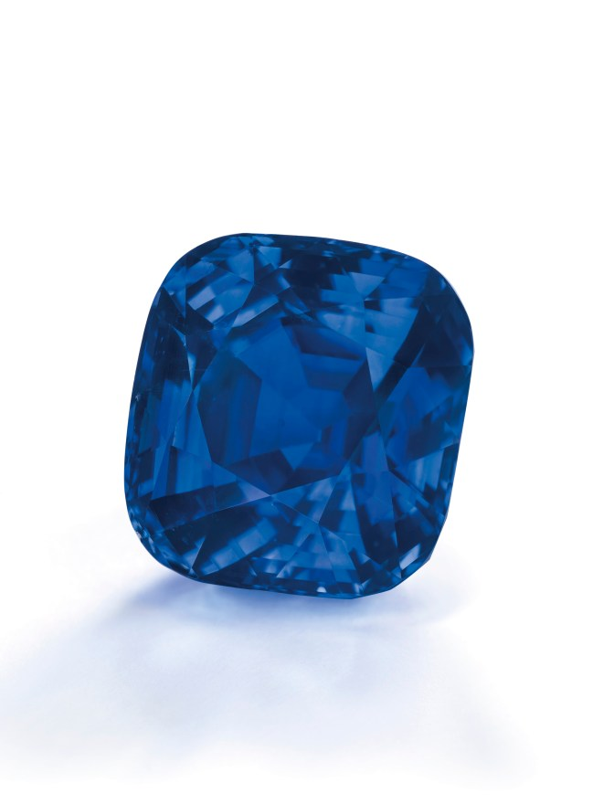 Cushion-shaped Kashmir Sapphire