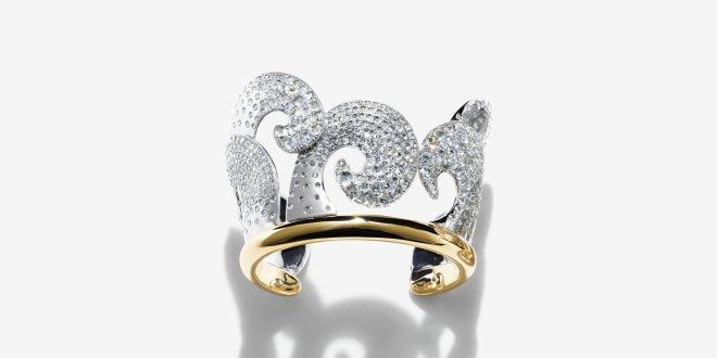 Japanesque wave bracelet
