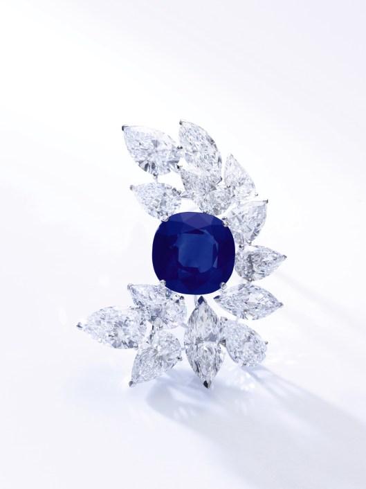 LOT 499 Kashmir sapphire and diamond brooch, Cartier