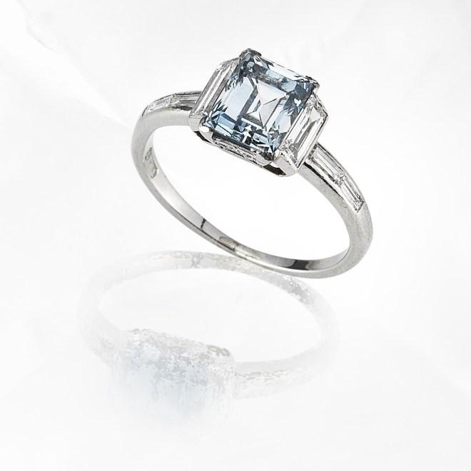 Fancy Coloured Diamond Single Stone Ring.