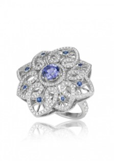 "Tanzanite, Sapphire and Diamond ""Byzantine"" Set - ring"