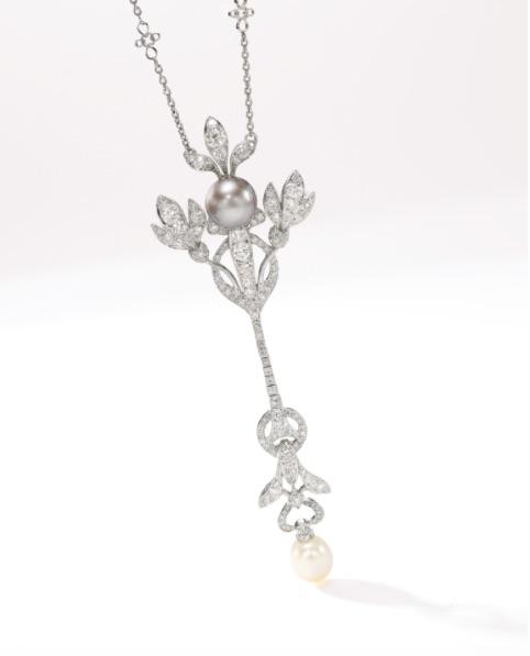 Natural Pearl and Diamond Jewel, by Boucheron, circa 1901.