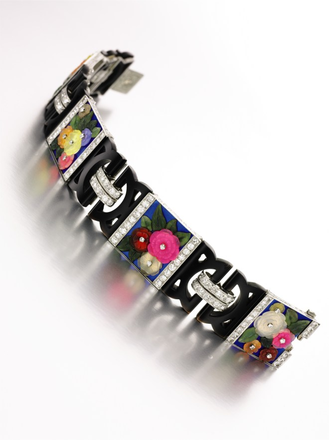 Hardstone, enamel and diamond Bracelet