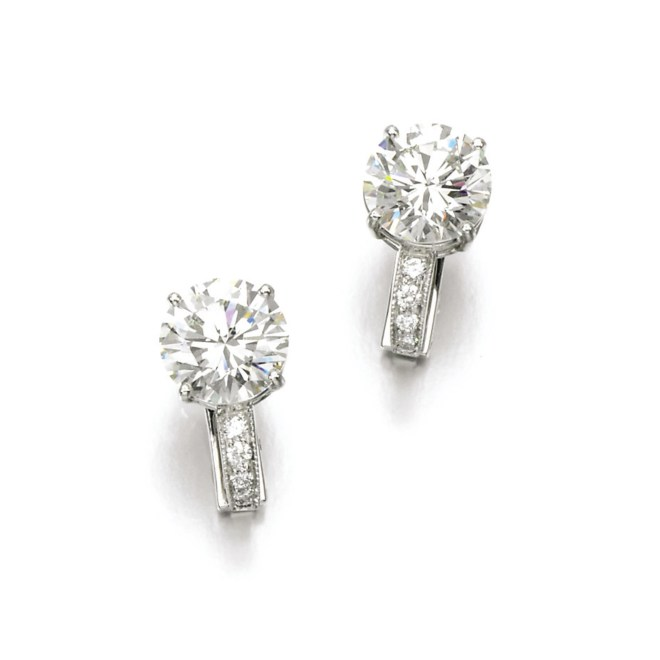 Diamond Ear Clips, (Lot 399, est. £50,000–70,000/ €70,500–98,500/ US$ 75,000-105,000)
