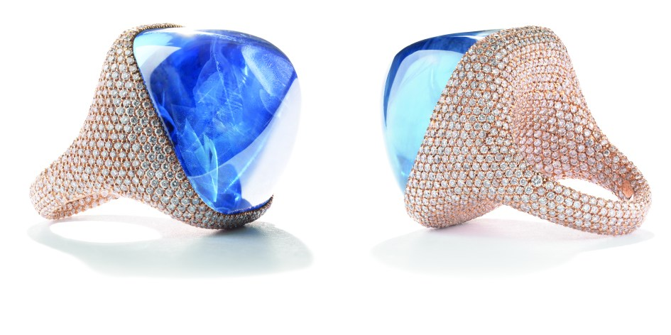 Sugarloaf Non Heated Sapphire Ring