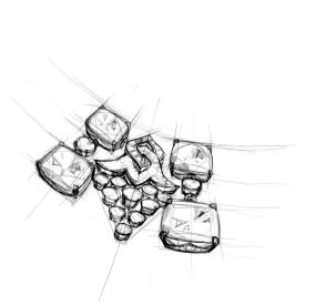 Bagliori Blu Sketch