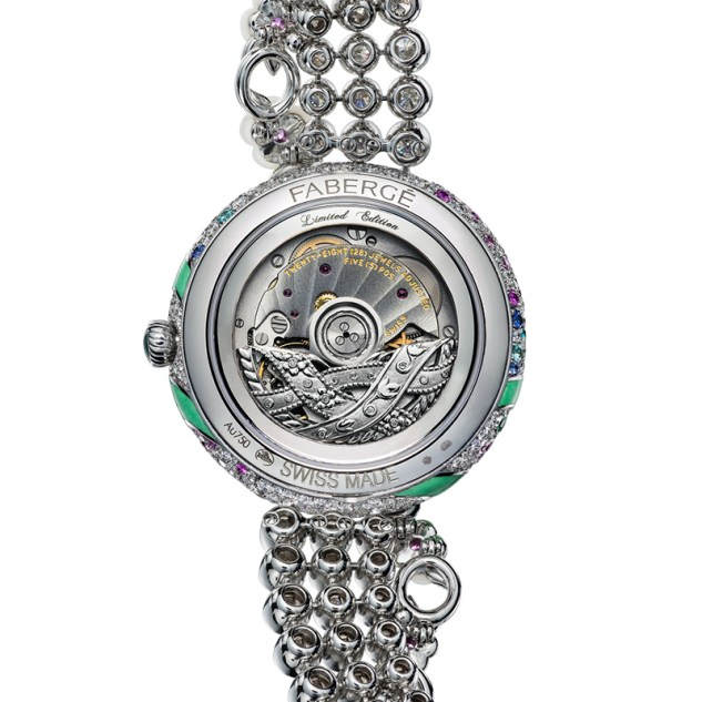 Fabergé Summer in Provence Multi-coloured Sapphire Watch- back