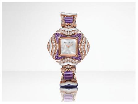 Geomtries of Time timepiece. Bulgari, Giardini Italiani High Jewellery Collection.