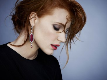 Jessica Chastain, Piaget Brand Ambassador. Photographer: James White. Stylist: Elizabeth Stewart - Givenchy top. Hair stylist : Renato. Make-up artist : Mary Greenwell