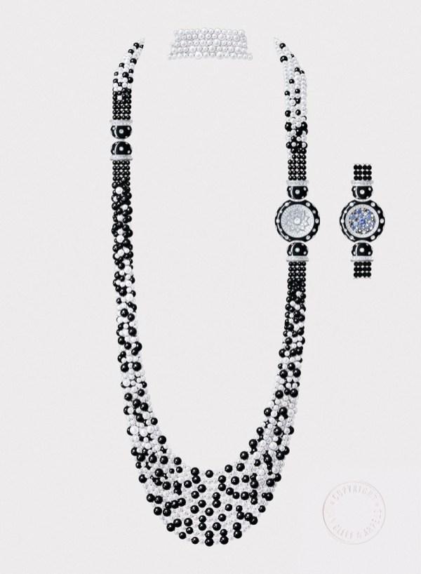 Cheval de Mer long necklace.