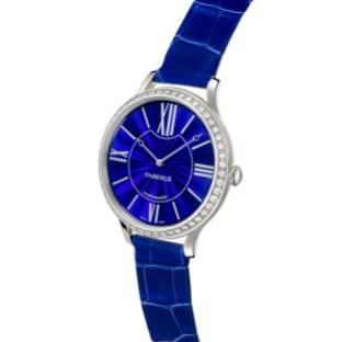 Fabergé Lady Fabergé 39mm 18ct White Gold Watch - Enamel Blue Dial