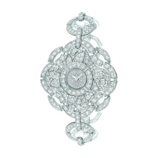 """Particulière"" watch in 18K white gold set with brilliant-cut diamonds. CHANEL Joaillerie"