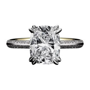 Vows by Alexandra Mor Cushion-Cut Diamond Engagement Ring